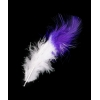"Marabou Feathers 4-6"" white/purple"